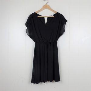 Lush chiffon short sleeve dress L